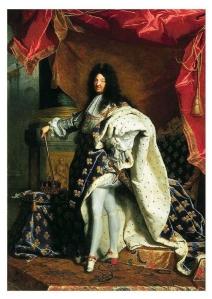 Lodewijk de 14e, koning van Frankrijk. Geboren in 1638 en gestorven in 1715.
