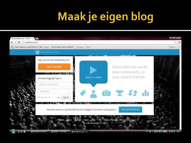 maak je eigen blog