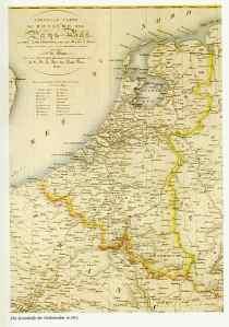 Het koninkrijk der Nederlanden, hoe het er in het jaar 1817 uit zag. Bron:  engelfriet.net