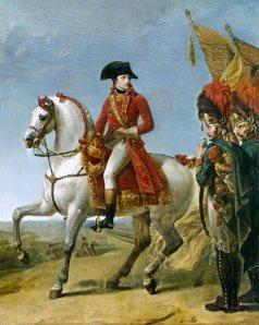 Op de afbeelding zie je Marengo, het paard van Napoleon. Het was een klein paard, een Arabisch volbloed. Napoleon had ook geen groot paard nodig, hij was zelf ook maar klein! Zijn paard is vernoemd naar de Slag bij Marengo, die plaats vond op 14 juni 1800 tussen het Franse en het Oostenrijkse leger in Italië. Napoleon en zijn leger hadden deze strijd gewonnen en daarom vernoemde hij zijn paard hierna.