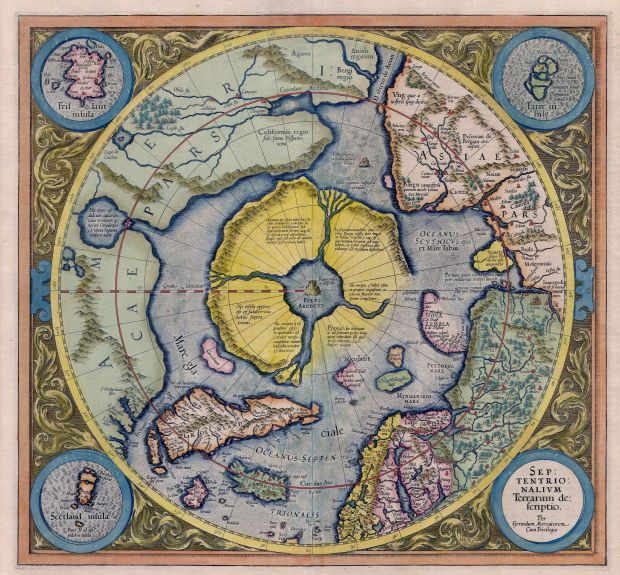 Kaart van Mercator, bron: Wikimedia