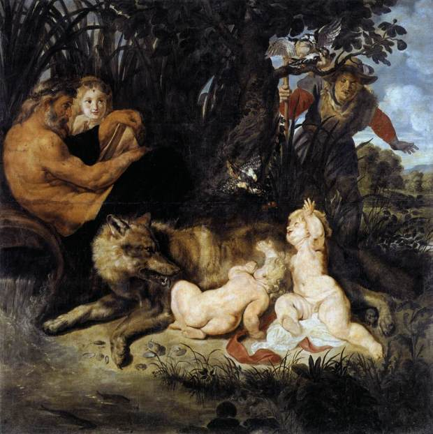 Schilderij van Romulus en Remus, geschilderd door Peter Paul Rubens
