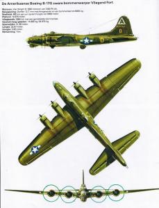 """Het type bommenwerper die 3 april 1945 neerstortte aan de Waterweg. Klik op de afbeelding om deze groter te maken.  Bron: """"De Tweede Wereldoorlog, Oorlog in de Lucht, een uitgave van Lekturama, blz. 36 www.bunkergordel.be)"""