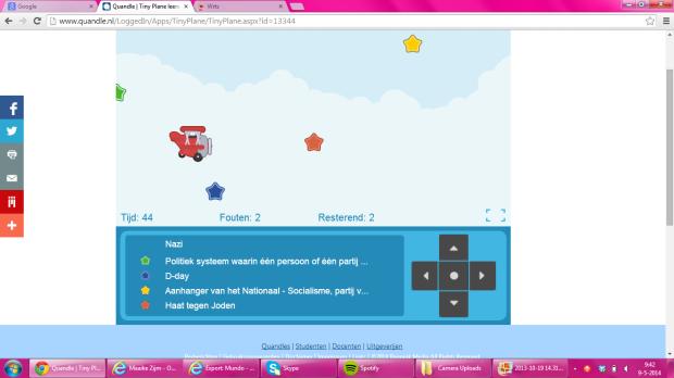 Screenshot van het spelletje Tiny Plane