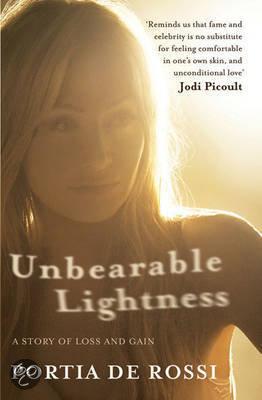Vandaag begonnen in het boek Unbearable Lightness van Portia de Rossi, bekend van o.a. Ally McBeal en partner van Ellen DeGeneres. Portia schrijft in dit boek over   haar eetstoornis. Mooi boek!