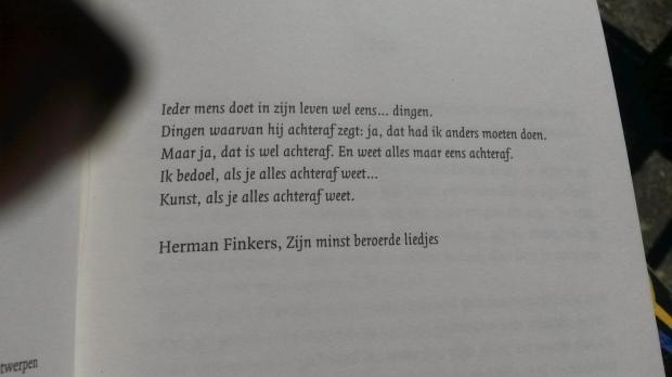 Motto voorin het boek van Herman Finkers