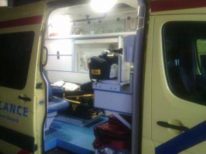 Foto van de nieuwe ambulance op Texel