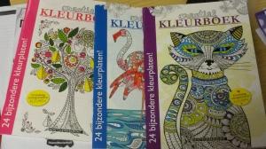 Bij de Action heb ik deze kleurboeken voor volwassenen meegenomen. Het lijkt misschien een beetje kinderachtig, maar leerlingen (en volwassenen!) vinden het fijn en rustgevend om te kleuren.