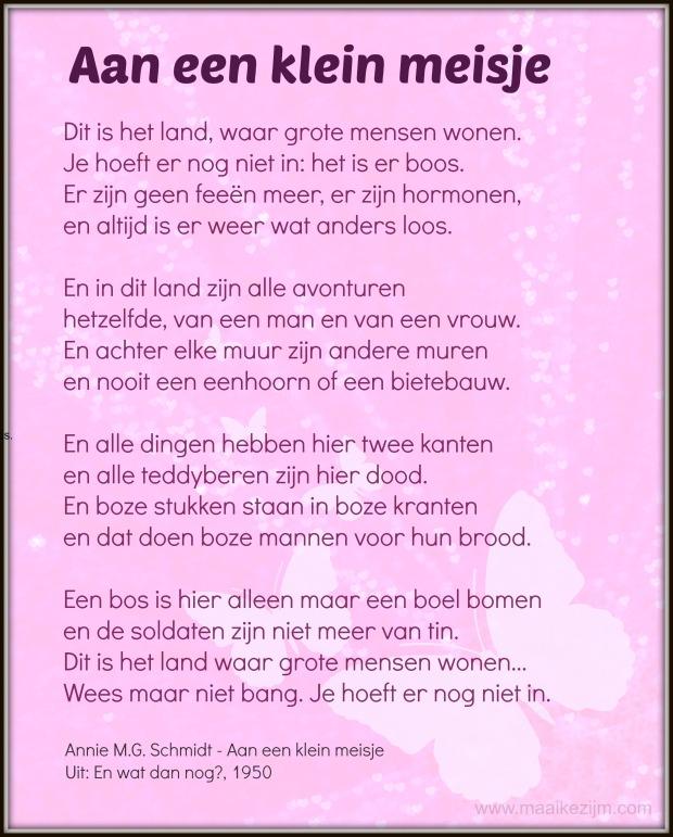 Gedicht Annie mg Schmidt
